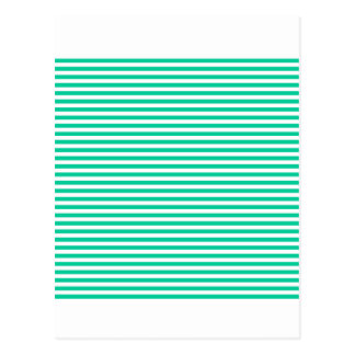 Stripes - White and Caribbean Green Postcard