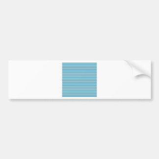 Stripes - White and Cerulean Bumper Stickers