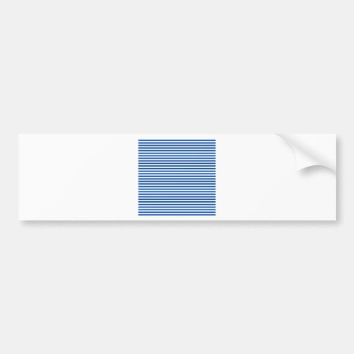 Stripes - White and Cobalt Bumper Sticker