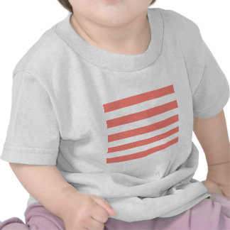 Stripes - White and Coral Pink Tee Shirt