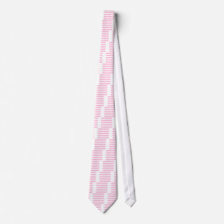 Stripes - White and Cotton Candy Tie