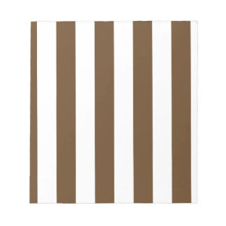 Stripes - White and Dark Brown Notepad