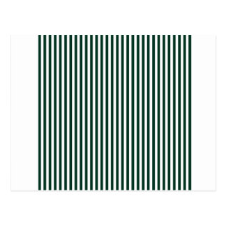 Stripes - White and Dark Green Postcard