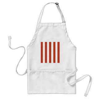 Stripes - White and Dark Pastel Red Apron