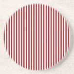 Stripes - White and Dark Red