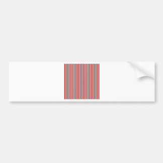 Stripes - White and Dark Red Bumper Sticker