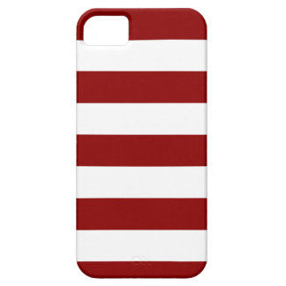 Stripes - White and Dark Red iPhone 5 Cover