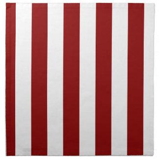 Stripes - White and Dark Red Cloth Napkins