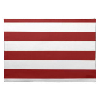 Stripes - White and Dark Red Placemat