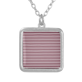 Stripes - White and Dark Scarlet Necklaces