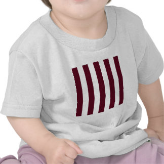 Stripes - White and Dark Scarlet Tee Shirts