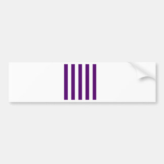 Stripes - White and Dark Violet Bumper Stickers