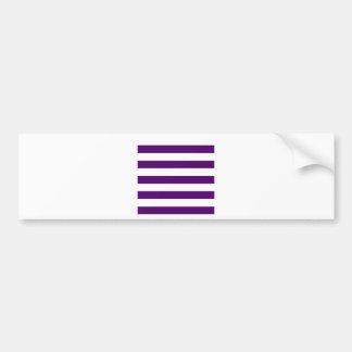 Stripes - White and Dark Violet Bumper Sticker