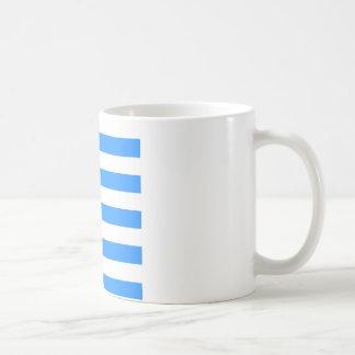 Stripes - White and Dodger Blue Coffee Mug