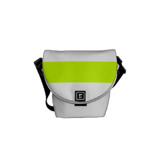 Stripes - White and Fluorescent Yellow Courier Bags