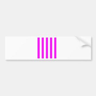 Stripes - White and Fuchsia Bumper Stickers
