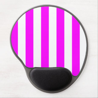 Stripes - White and Fuchsia Gel Mouse Mat