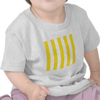 Stripes - White and Golden Yellow Tee Shirt