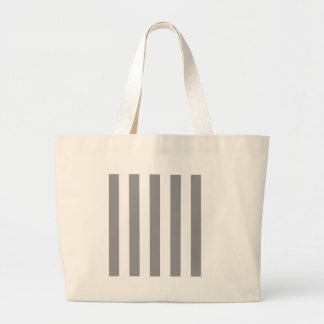 Stripes - White and Gray Canvas Bag