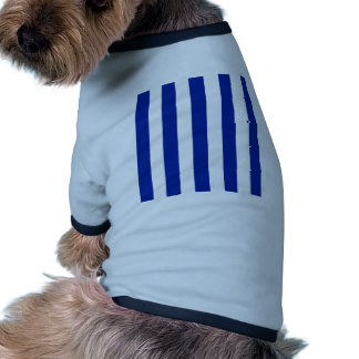 Stripes - White and Imperial Blue Pet T-shirt