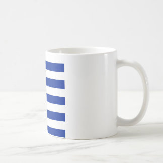 Stripes - White and Imperial Blue Mug