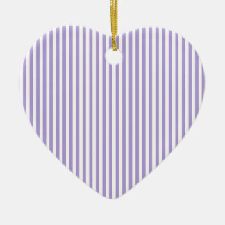 Stripes - White and Light Pastel Purple Christmas Tree Ornament