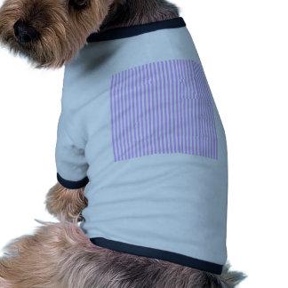 Stripes - White and Mauve Dog T Shirt