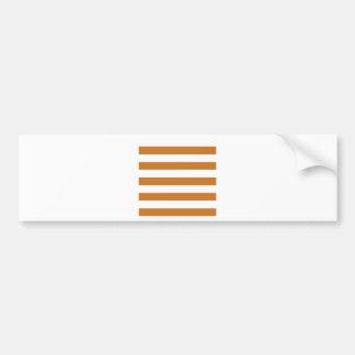 Stripes - White and Ochre Bumper Sticker