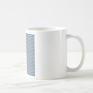 Stripes - White and Oxford Blue Mug