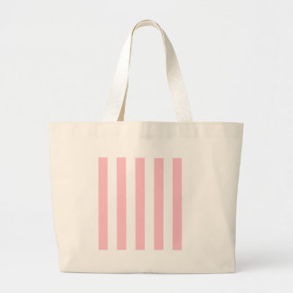 Stripes - White and Pink Canvas Bag