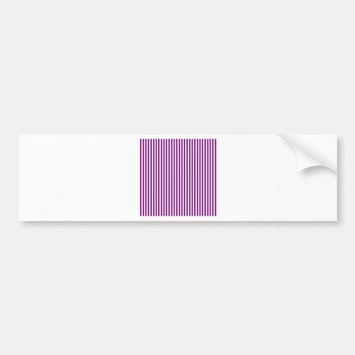 Stripes - White and Purple Bumper Sticker