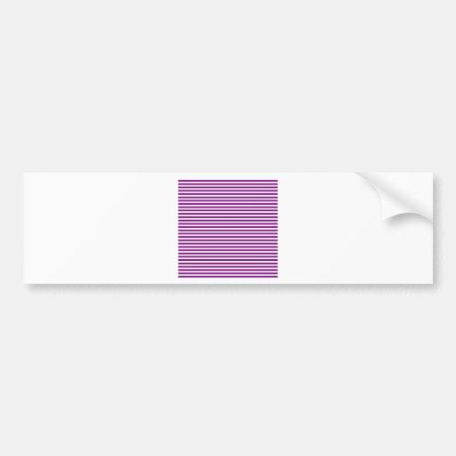 Stripes - White and Purple Bumper Stickers