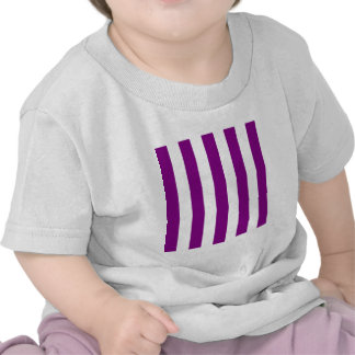 Stripes - White and Purple T Shirts