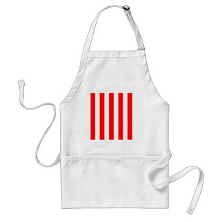 Stripes - White and Red Apron