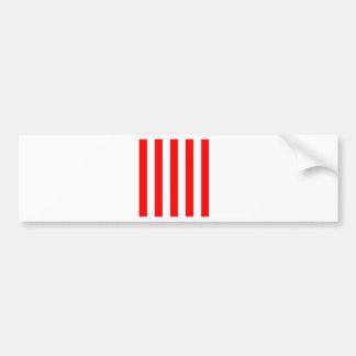 Stripes - White and Red Bumper Sticker