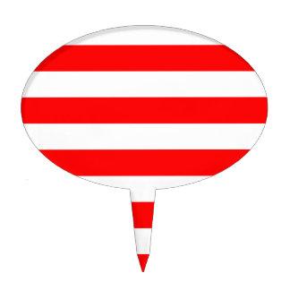 Stripes - White and Red Cake Picks