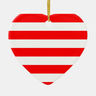 Stripes - White and Red Christmas Tree Ornaments