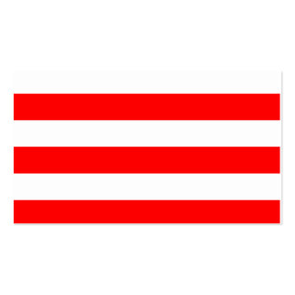 Stripes - White and Red Pack Of Standard Business Cards