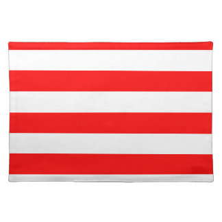 Stripes - White and Red Place Mats