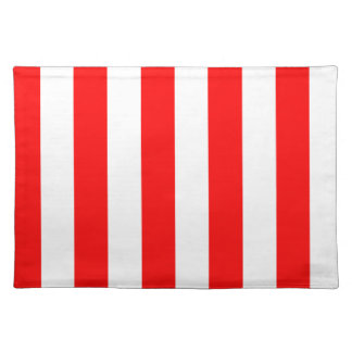 Stripes - White and Red Placemats