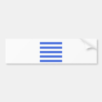 Stripes - White and Royal Blue Bumper Stickers