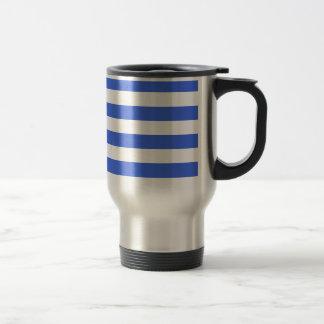 Stripes - White and Royal Blue Mug