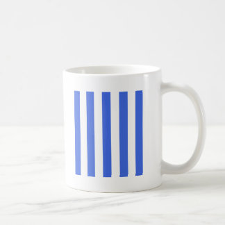 Stripes - White and Royal Blue Mugs