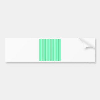 Stripes - White and Spring Green Bumper Sticker