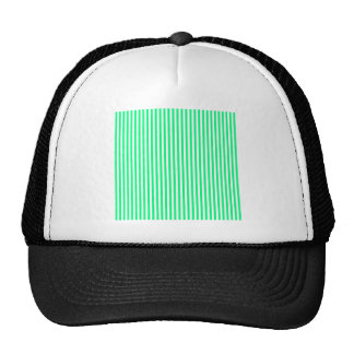 Stripes - White and Spring Green Trucker Hats