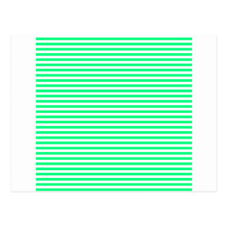 Stripes - White and Spring Green Postcard