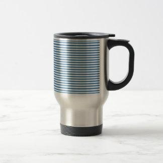 Stripes - White and Steel Blue Mug