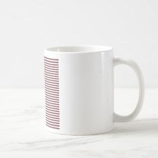 Stripes - White and Wine Mugs