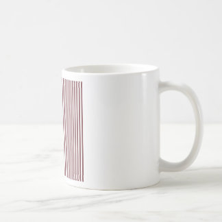 Stripes - White and Wine Coffee Mug