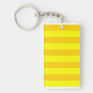 Stripes - Yellow and Dark Yellow Keychains